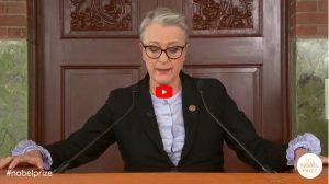 Bekanntgabe Friedensnobelpreis 2020 - Screenshot
