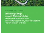 """Cover """"Nachhaltige Wege aus der Wirtschaftskrise"""""""