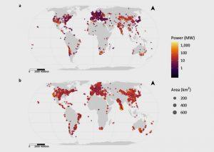 Globale Verteilung von Solar- und Windparks