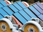 Dach mit Solarthermieanlage