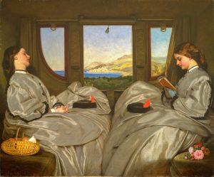 Bild mit zwei Reisenden im 19. Jahrhundert