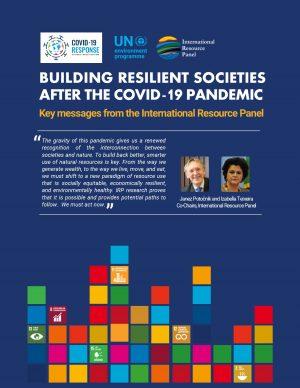 """Cover """"Aufbau widerstandsfähiger Gesellschaften nach der Covid-19-Pandemie"""""""
