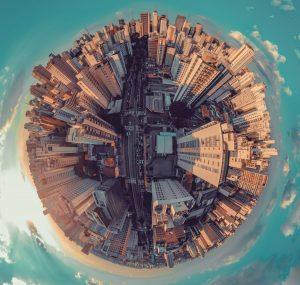 Großstadt von oben