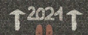 2021-Schriftzug auf Beton
